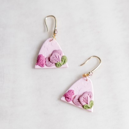 First Baby Pink #3 Polymer Clay Earring